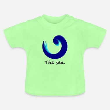 I-love-the-blues The Sea. - blue edition - Baby T-Shirt