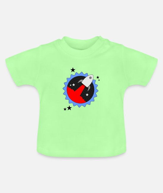 Missile Baby T-Shirts - Rocket Star - Baby T-Shirt mint green