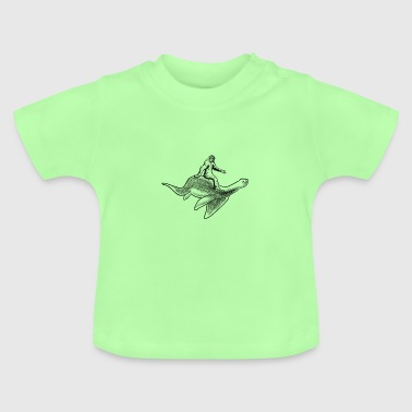 Bigfoot Riding Loch Ness Monster - Baby T-Shirt