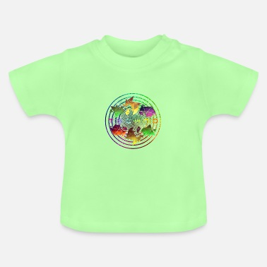 Community World Techno Circle Communauté Techno - T-shirt Bébé