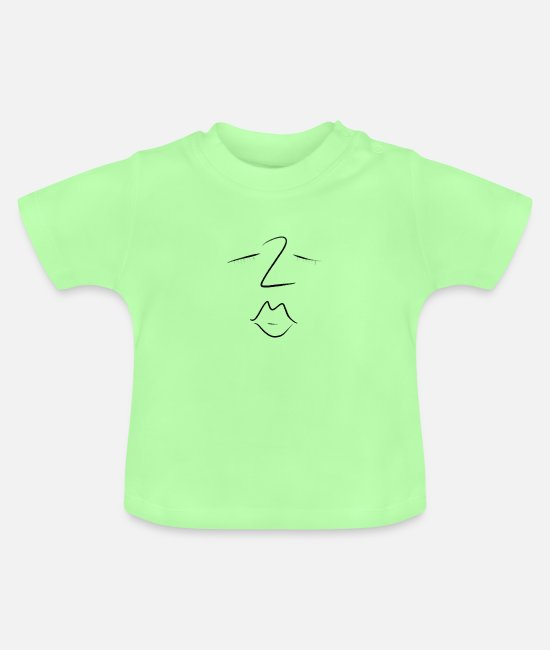 Mouth Baby T-Shirts - Kiss - Baby T-Shirt mint green