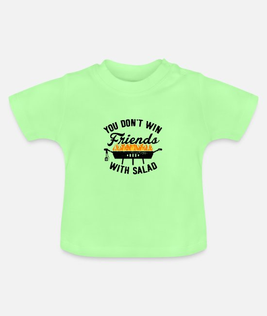 Bbq Baby Clothes - BBQ Barbecue Griller Barbecue Grill Season salad - Baby T-Shirt mint green