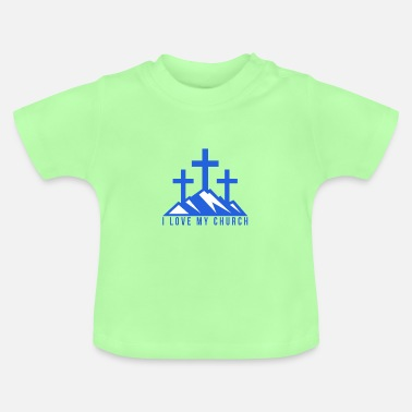Geburtsjahr I love my Church - Baby T-Shirt