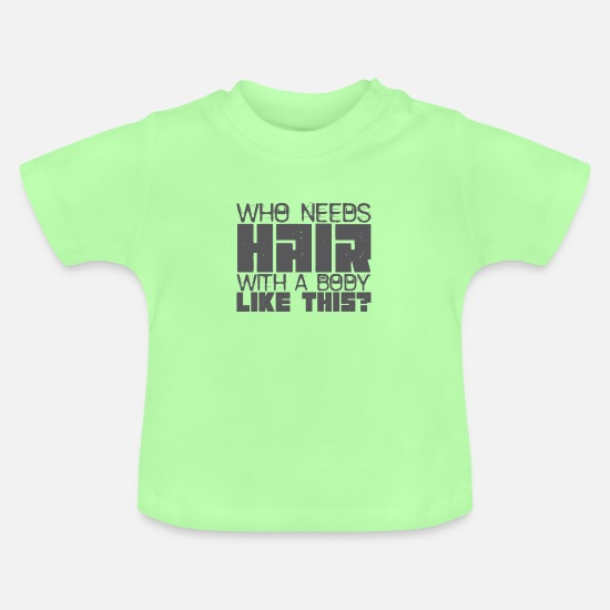 Body Builder Baby Clothes - body building - Baby T-Shirt mint green