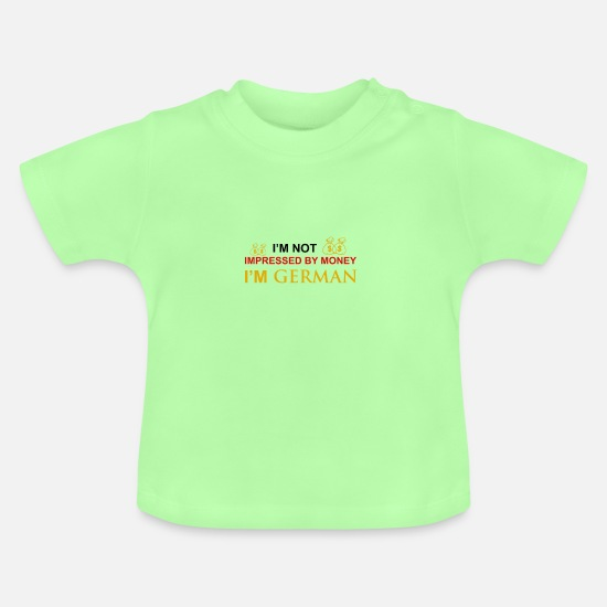 German Shepherd Baby Clothes - German - Baby T-Shirt mint green