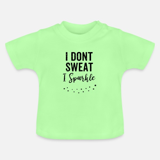 Gym Baby Clothes - Funny Gym Fitness T Shirt Gift Gym Partner - Baby T-Shirt mint green