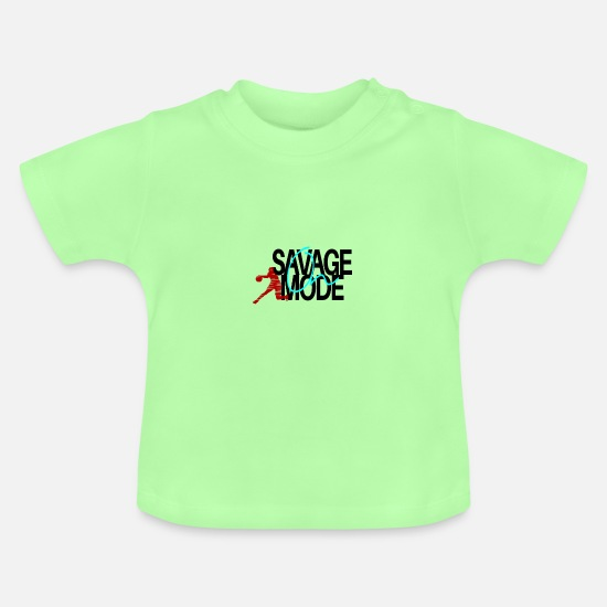 Gift Idea Baby Clothes - Basketball Basketball Basketball Basketball - Baby T-Shirt mint green