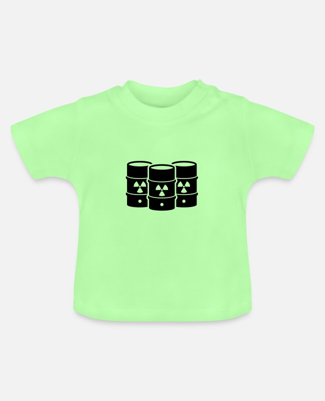 Pollution Baby T-Shirts - nuclear waste - Baby T-Shirt mint green