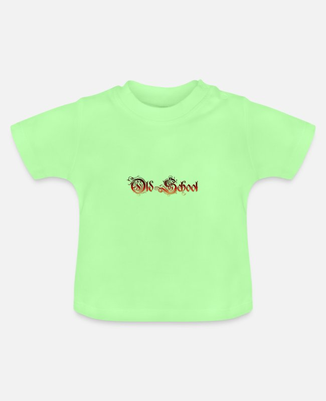 Freestyle Baby T-Shirts - Old School - Baby T-Shirt Mintgrün
