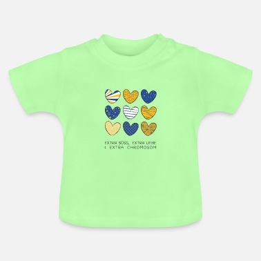 Down 9 hearts | Down Syndrome | The colorful zebra - Baby T-Shirt