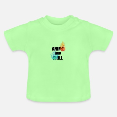 Fire And Ice Anime and Chill Fire and Ice - Baby T-Shirt