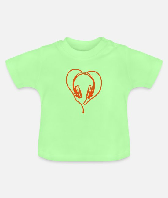 Audiophile Baby T-Shirts - audio equalizer headphone - Baby T-Shirt mint green