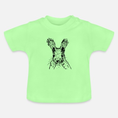 squirrel drawing - Baby T-Shirt