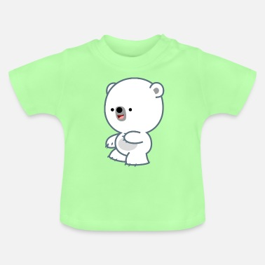 Mischievous Mischievous Little Polar Bear- Cheerful Madness!! - Baby T-Shirt