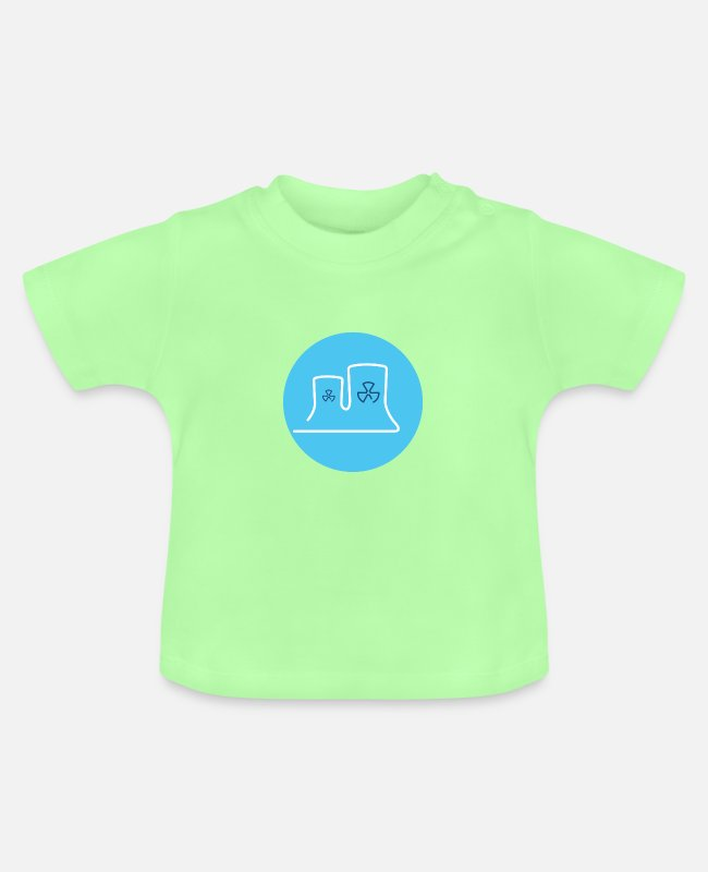 Energy Transition Baby T-Shirts - Nuclear power station - Baby T-Shirt mint green