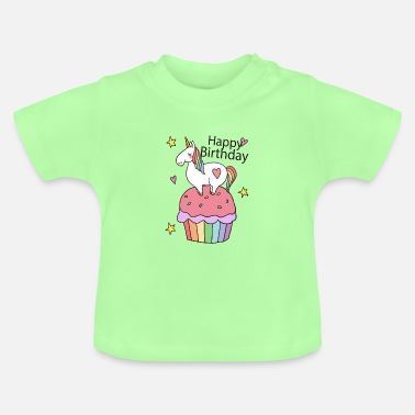Bursdag Unicorn muffin - Baby-T-shirt