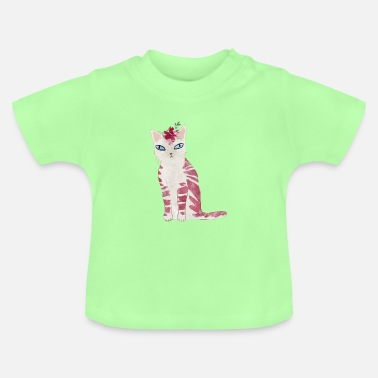 Chat rose - T-shirt Bébé