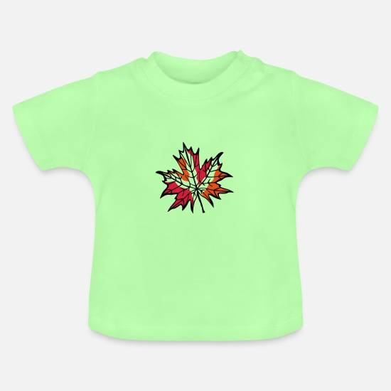 Symbol  Baby Clothes - autumn leaf - Baby T-Shirt mint green