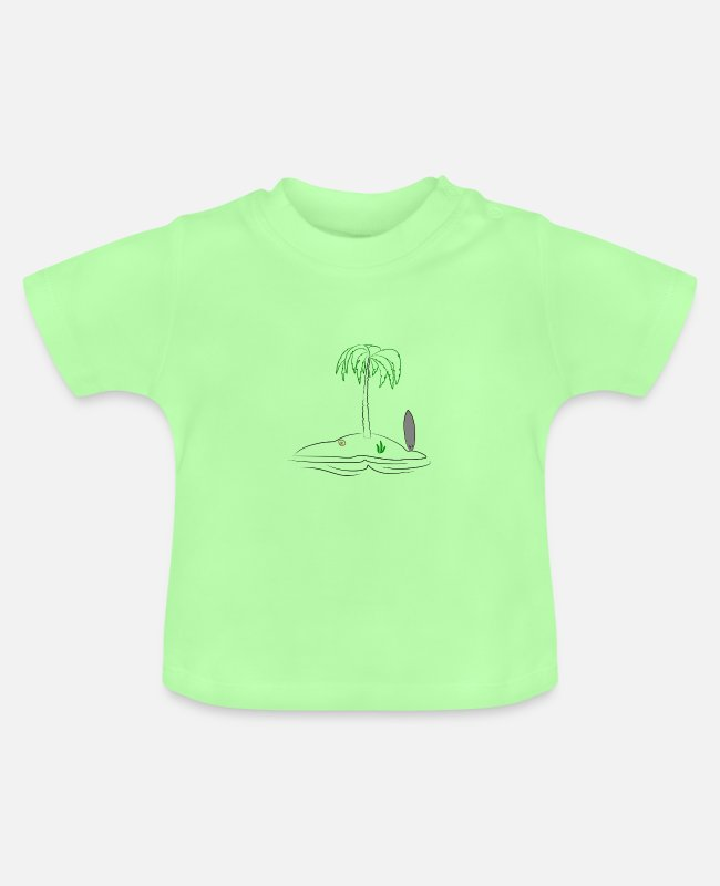 Chillig Baby T-Shirts - island - Baby T-Shirt mint green