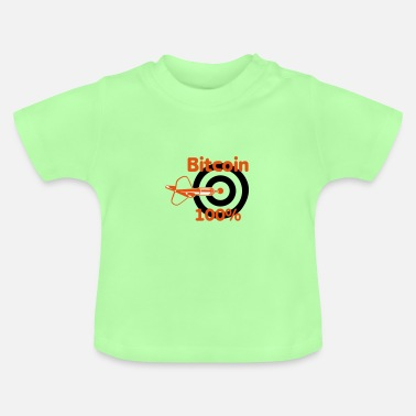 bitcoin, cool, 100%, crypto - Baby T-shirt