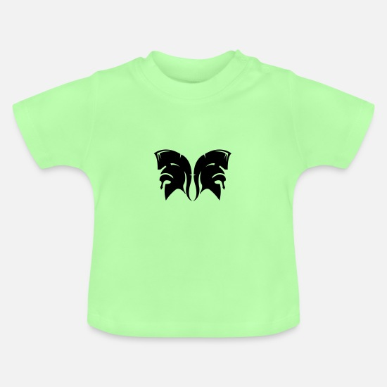 Sparta Baby Clothes - Sparta helmet 02 - Baby T-Shirt mint green