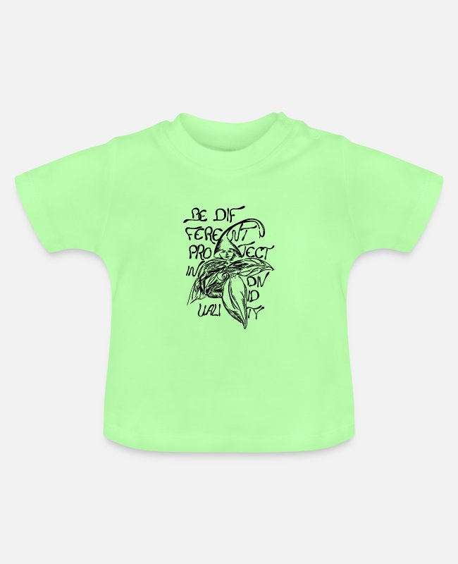 Be Different Baby T-Shirts - Verteidiger - Kämpfer - Baby T-Shirt Mintgrün