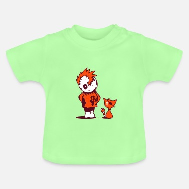 Punk Baby A little punk with a little cat - Baby T-Shirt