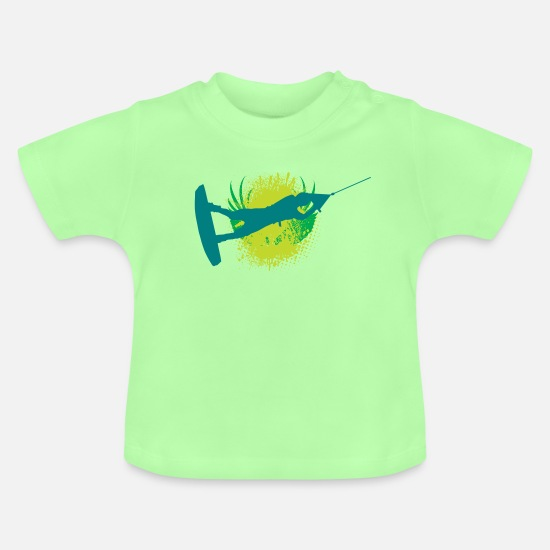 Ass Baby Clothes - Vector background eu - Baby T-Shirt mint green