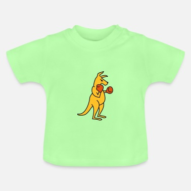 Box boxing kangaroo - Baby-T-shirt