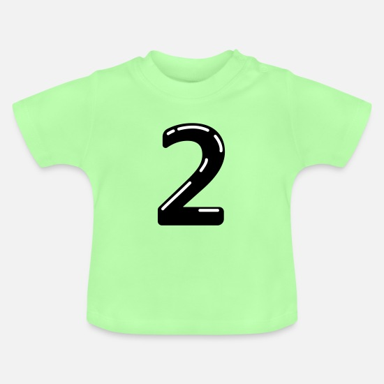 Birthday Baby Clothes - 2 - Baby T-Shirt mint green
