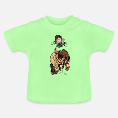 Thelwell Funny Illustration Bucking Horse - Baby T-Shirt