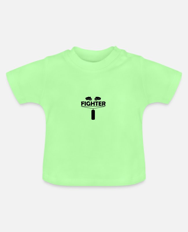 Martial Arts Baby T-Shirts - Fighter - Baby T-Shirt mint green