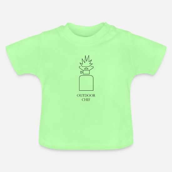 Gift Idea Baby Clothes - Outdoor chef - Baby T-Shirt mint green