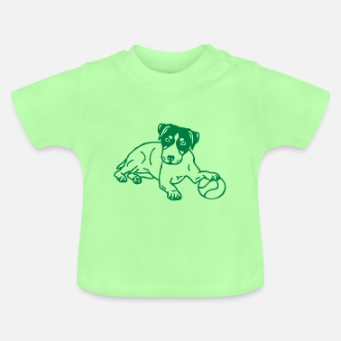 Russel jackrussel © - www.dog-power.nl - Baby T-shirt