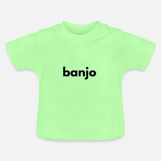 Gift Idea Baby Clothes - banjo - Baby T-Shirt mint green