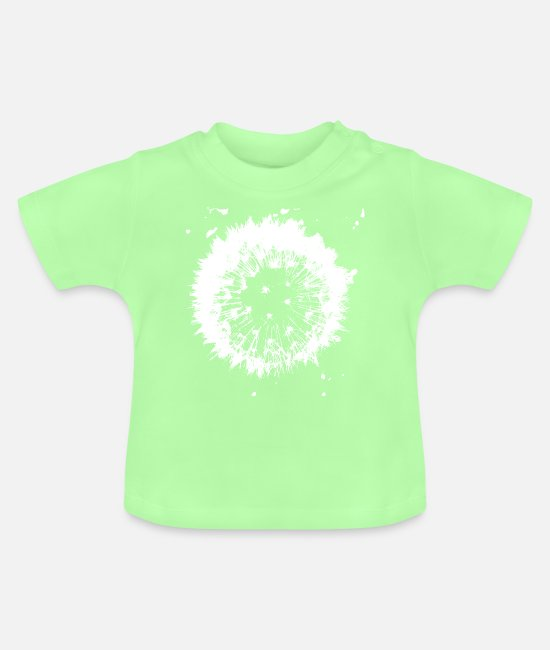 Drawing Baby T-Shirts - Dandelion - Baby T-Shirt mint green