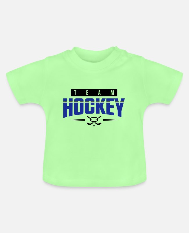 Player Baby T-Shirts - hockey team team - Baby T-Shirt mint green