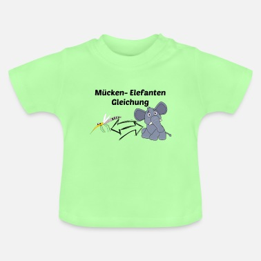 Mosquito elephant equation - Baby T-Shirt