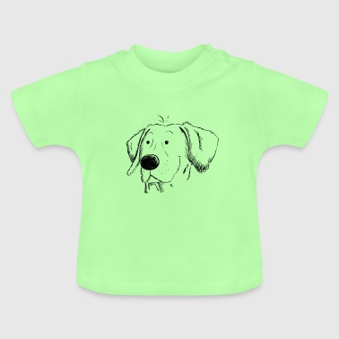 Weimaraner dog sketch I head I dog head regalo - Camiseta bebé