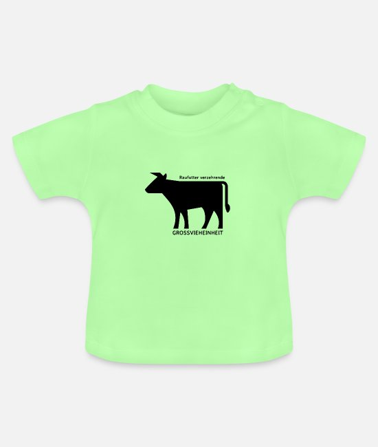 Obscene Baby T-Shirts - Beef cattle - Baby T-Shirt mint green
