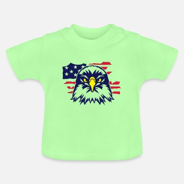 British Flag eagle american flag 402 - Baby T-Shirt