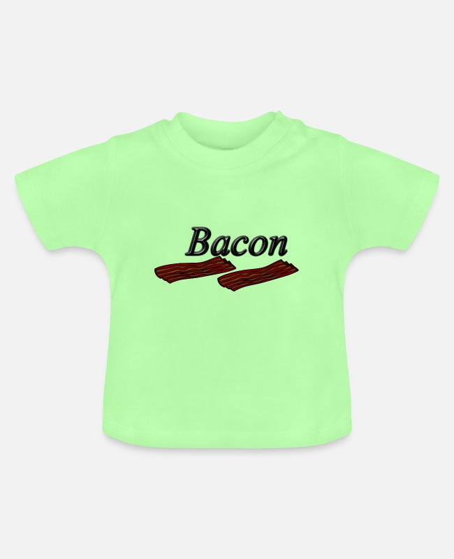Lecker Baby T-Shirts - bacon - Baby T-Shirt Mintgrün