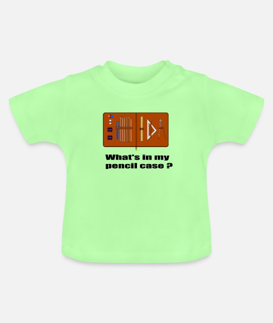 Schule Baby T-Shirts - Whats in my pencil case - Baby T-Shirt Mintgrün