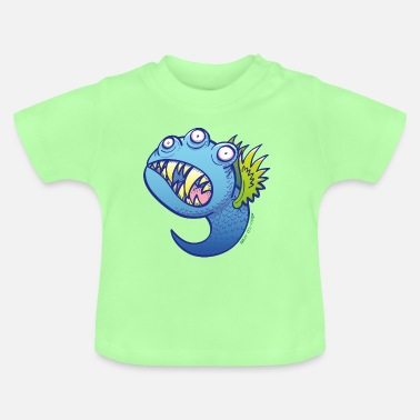 Little Wing Winged little blue monster - Baby T-Shirt