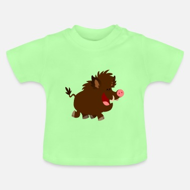 Sanglier Le Joyeux Sanglier Cartoon par Cheerful Madness!! - T-shirt Bébé