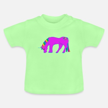 Baby Girl Fairy Unicorn, fairy tales, animals, baby, kids, girls, - Baby T-Shirt