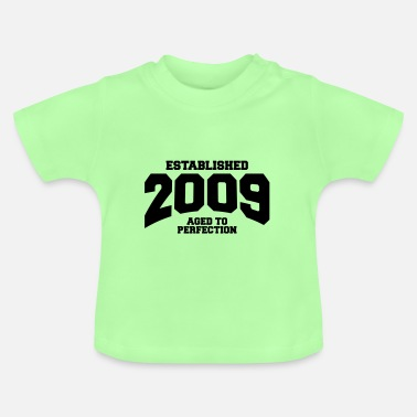 Established aged to perfection established 2009 (sv) - Baby-T-shirt