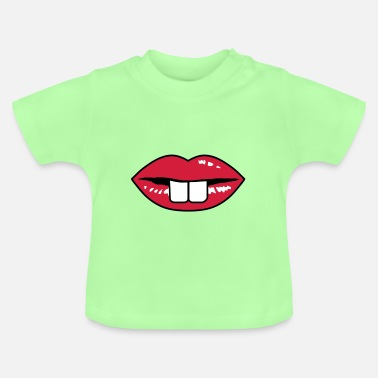 Lips Teeth Buck teeth and red lips - Baby T-Shirt