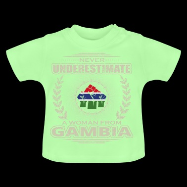 Never Underestimate Girl Woman GAMBIA png - Baby T-Shirt