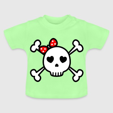 cute skull cute rockabilly skull - Baby T-Shirt
